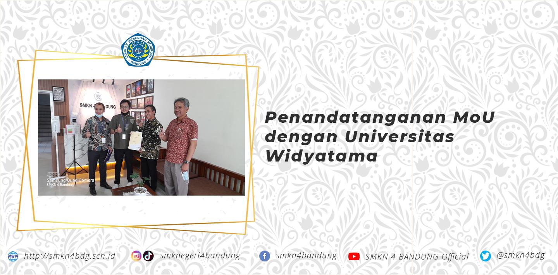Penandatanganan MoU dengan Universitas Widyatama
