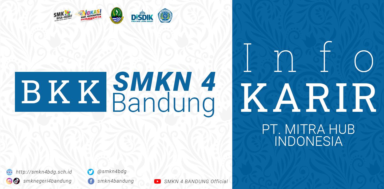 BKK SMKN 4 Bandung - Info Karir PT Mitra Hub Indonesia